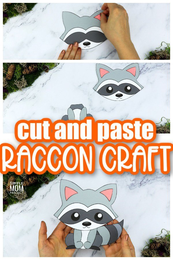 Are you looking for a simple way to teach the letter R to your preschoolers this summer? Click now to get this free printable racoon template to make this cute cut out and paste woodland mouse craft! He is perfect for kids of all ages including toddlers and kindergartners to learn a part of the alphabet! #mouse #mousecrafts #woodland #woodlandanimals #winteranimals #LetterM #SimpleMomProject