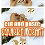 Are you looking for an easy step by step toddler activity to teach the letter s to your preschoolers? Click now to get the free printable squirrel template to make this cute squirrel paper craft! Spruce him up by adding autumn leaves, acorns or even glue him to a pinecone!. You could even glue him to a paper plate or toilet paper roll so he can easily become fall decor for your home. Kids of all ages will love making this squirrel woodland animal craft, even kindergartners and up! #squirrel #squirrlecrafts #woodlandanimals #woodlandanimalcrafts #fallanimalcrafts #LetterS #SimpleMomProject