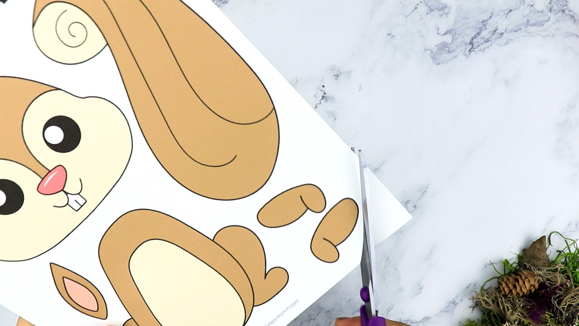 Free Printable Forest Squirrel Craft Template for kids, preschoolers, toddlers and kindergartners