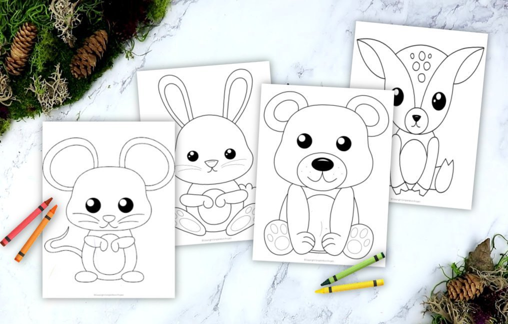 - Printable Woodland Animal Coloring Book For Kids - Simple Mom Project