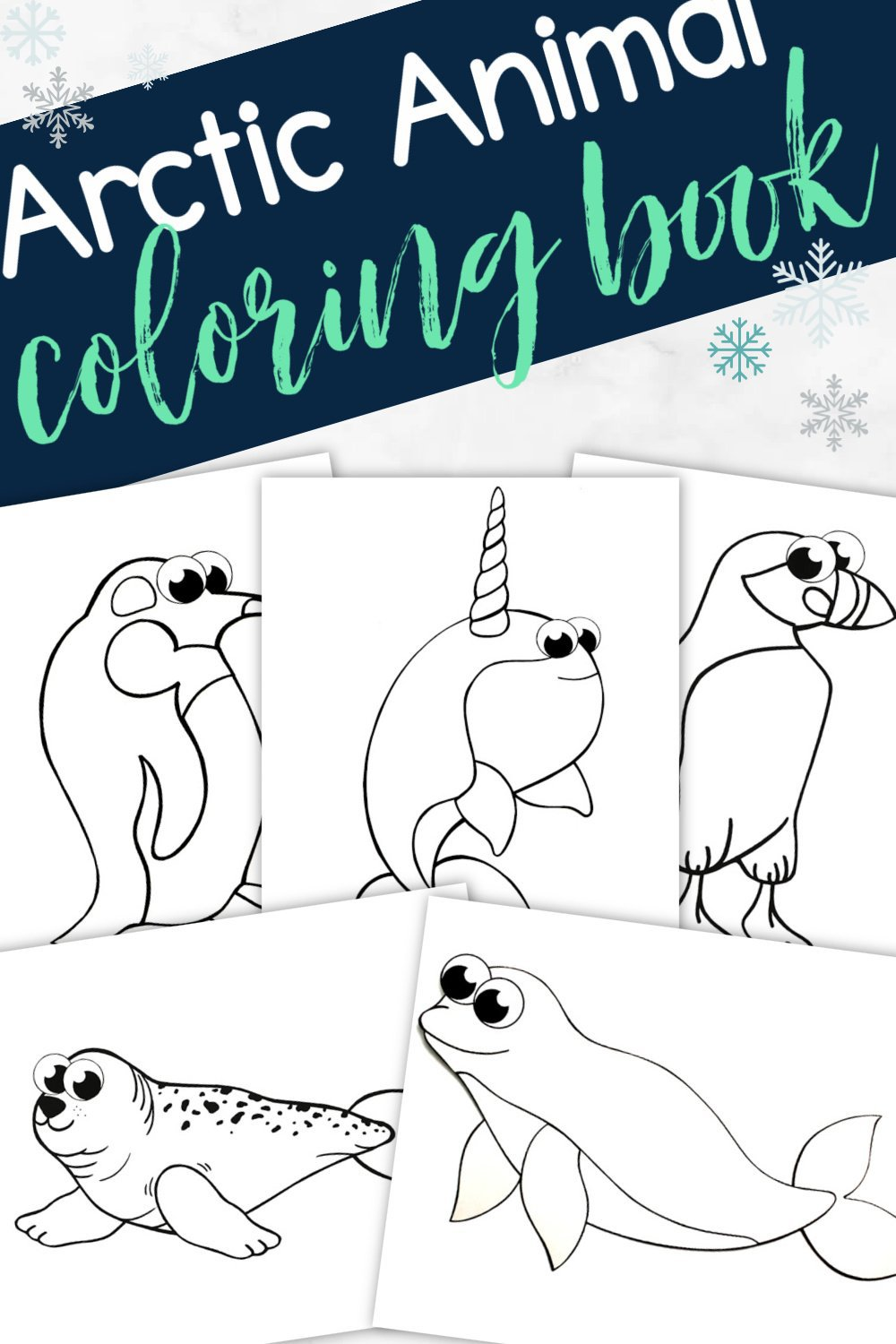 Printable Arctic Animal Coloring Book - Simple Mom Project