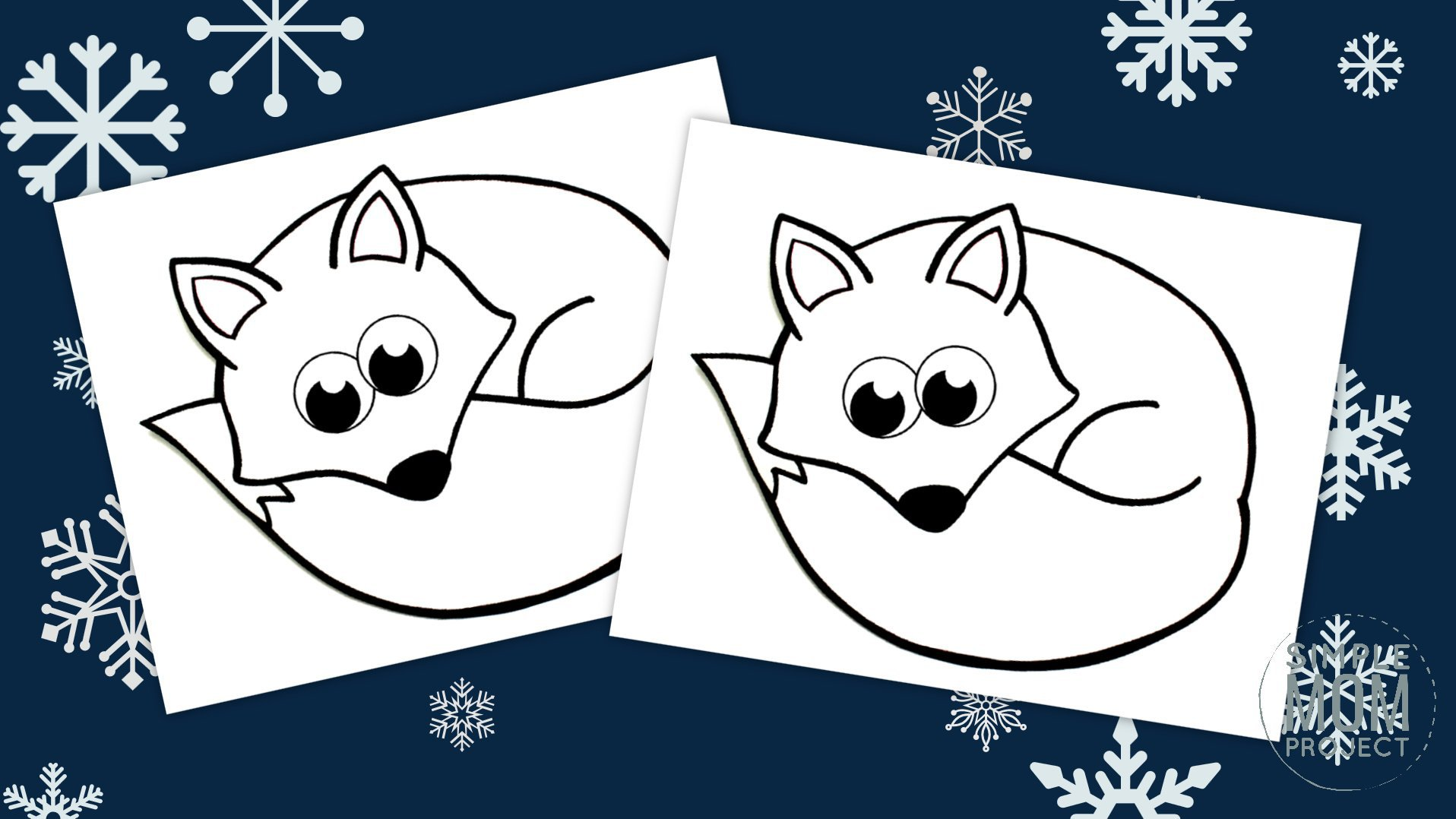 Free Printable Arctic Fox Coloring Page - Simple Mom Project
