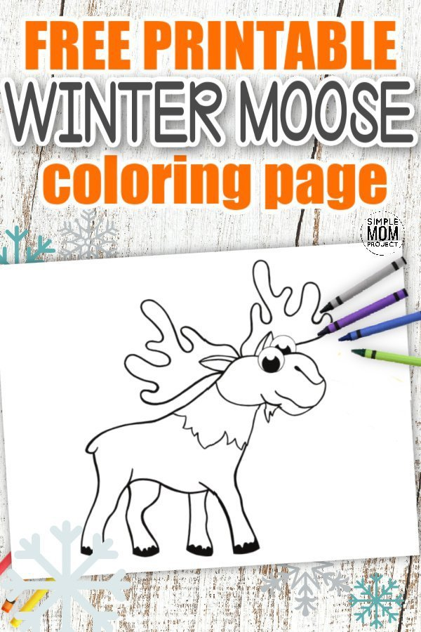 Are you looking for a simple and fun Moose coloring page for your kids Arctic animal crafts? This free printable Moose template makes an ideal addition to any toddlers Arctic or Winter animal coloring book or even as a fun art project for kindergartners. Simply, click here and grab your cute Moose coloring page, then start adding your favorite colors! #Moosecoloringpages #Arcticanimalcoloringpages #WinteranimalColoringpages #Papercraftsforkids #SimpleMomProject