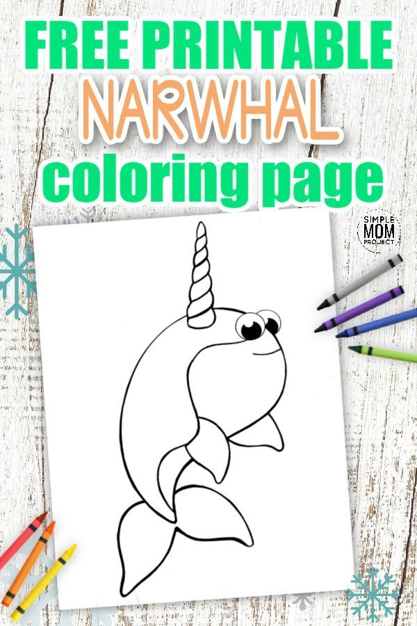 Click here to download this cute and free printable Narwhal coloring page. Share the magic of the Arctic with your toddlers as a homeschool activity or add some fun to learning the Letter N as a preschool art project. This cute Narwhal coloring page is a super simple cut out and color activity for kids of all ages to enjoy so grab your Narwhal coloring sheet today! #Narwhalcoloringpages #Narwhalprintables #Arcticanimalcoloringpages #SimpleMomProject
