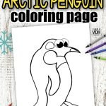 Bring some fun to a rainy day with this cute Arctic Penguin coloring page. This free printable Penguin coloring page makes an ideal art project for toddlers and preschoolers. Cut out the penguin template, color the design with your favorite colors then create your own flock of emperor penguins with a few cute babies as well. They're so simple and so much fun so click here to get your printable Arctic Penguin coloring page today! #Penguincoloringpages #ArcticPenguincoloringpages #Coloringpages #SimpleMomProject