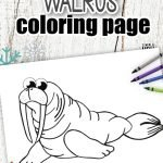 Looking for a fun and easy coloring page for your kids? Here's a simple and cute Walrus coloring page ready to add to your toddlers coloring book or wall art decorations. Cut out and Color this simple Arctic walrus design with your favorite water paints or crayons, it's an ideal art project for toddlers or homeschooling activity for preschoolers. Click here to print your Walrus coloring pages today! #Walruscoloringpages #Arcticanimalcoloringpages #Walruscoloringsheets #coloringpagesforkids #SimpleMomProject