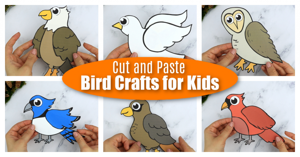 Add some fun to your kids craft activities with these adorable cut & paste Bird Crafts. Your kids will learn how to make beautiful Barn Owls, Eagle crafts, Dove Crafts & many more with these easy, printable Bird craft templates. Whether you use them as creative art projects for toddlers, preschoolers or kindergartners or to learn the alphabet during homeschooling, this flock of cut & paste bird crafts are great fun for everyone! #birdcrafts #printablebirdcrafts