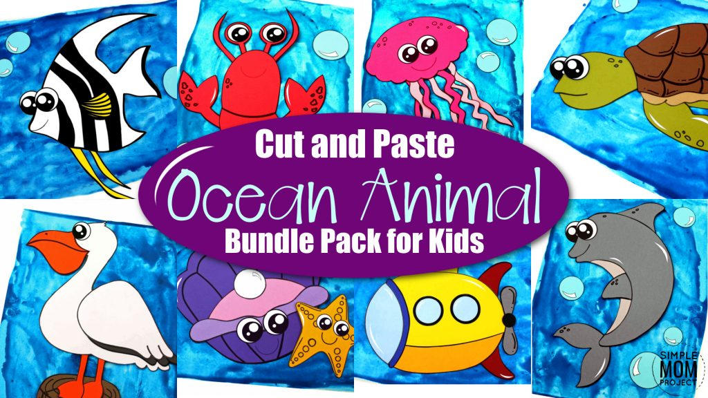 Looking for the best ocean animal crafts for your kids? These easy ocean animal crafts have 20+ fun cut and paste templates to keep toddlers, preschoolers or even big kids amused for hours. Including our popular dolphins, sea turtles, jellyfish, octopus and many more these are sure to be a big hit with your kids for fun craft activities or even homeschooling lessons. Click here to grab these awesome ocean animal craft templates today. #oceananimalcrafts #oceanfriends #underwateranimalcrafts