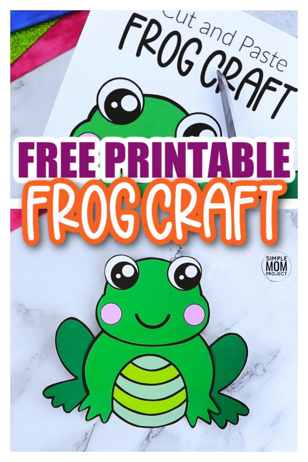 Are you looking for an easy, printable frog craft template to teach the life cycle of a tadpole to a frog or are you teaching the letter F and need a cute, easy peasy frog craft? Well click now to download this free printable frog template! Your kids will be jumping around to make this frog cut out. You can decorate him with handprints, footprints, fingerprints, whatever you'd like or even draw a lily pad under him. The choice is all yours! #frogcraft #frogtemplate #simplemomproject