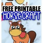 Are you looking for an easy way to teach the uppercase and lowercase letter H to your preschool or kindergarten student? Use this free printable horse craft template, cut out the pieces and stick them together with a little glue. Your cowboy or farm animal lovers will adore making this simple horse craft. You can glue him on cardboard or your toddler and use brads to make him a fun movable rocking horse. Click, download and grab this free printable horse template today! #horsecraft #horsetemplate #farmanimalcrafts #SimpleMomProject