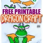 Are you looking for an easy, printable, paper dragon craft template you and your preschool or kindergarten students can cut out? The free printable dragon template makes this cute and simple dragon craft an easy way to teach the letter D. You can use him as a fire breathing coloring dragon game or recycle some old pipe cleaners or paper plates you have lying around and turn this into a DIY decorate your own dragon craft day! #dragoncraft #dragontemplate #simplemomproject