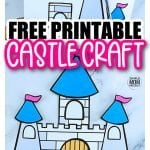 Are you in need of a fun castle craft for your princess tea party? Well look no further because the free printable castle template is available for download now. You can build your own paper castle and decorate it however you please. Add icicles for a Frozen theme or perhaps rewatch Tangled for a Rapunzel theme. This medieval castle craft is perfect for kids of all ages, boys, girls, preschoolers, toddlers and even kindergartners. Print your castle template now! #castlecraft #castletemplate #simplemomproject