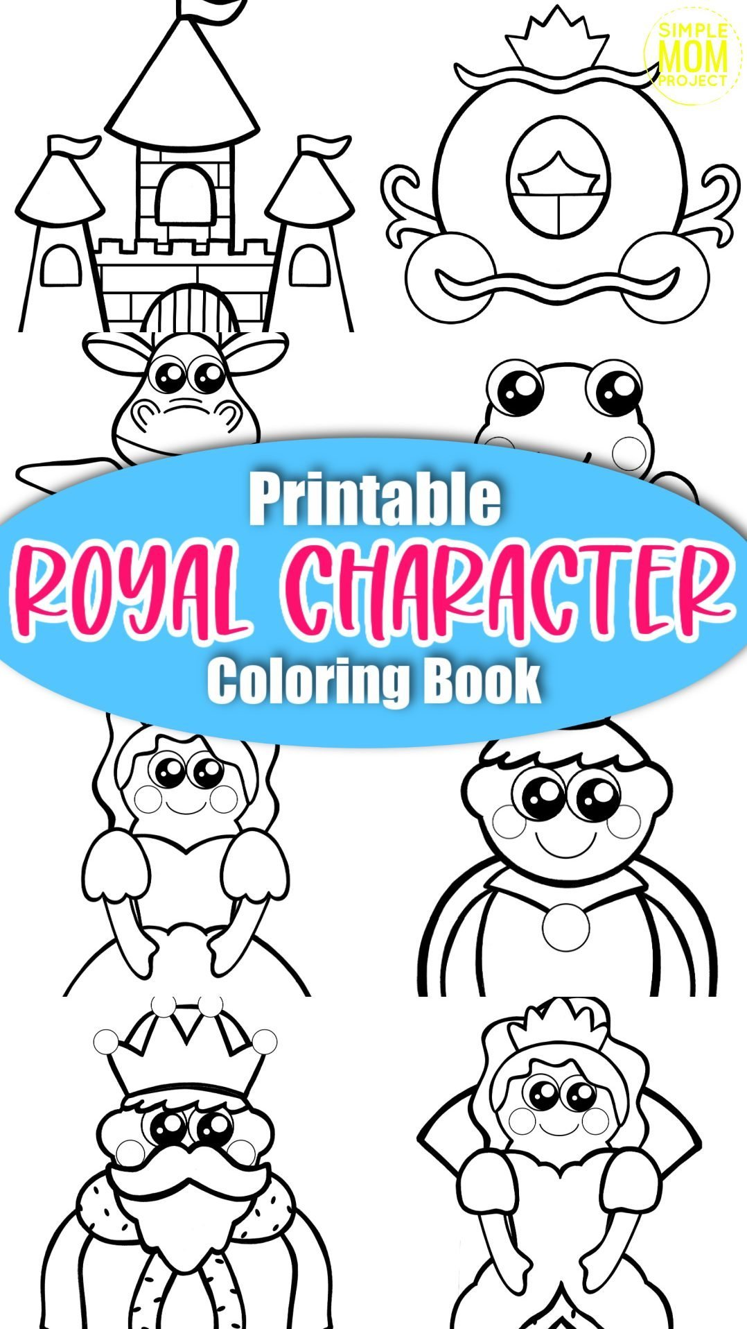 royalty storybook character coloring book for kids, preschoolers and kindergartners sales image 2