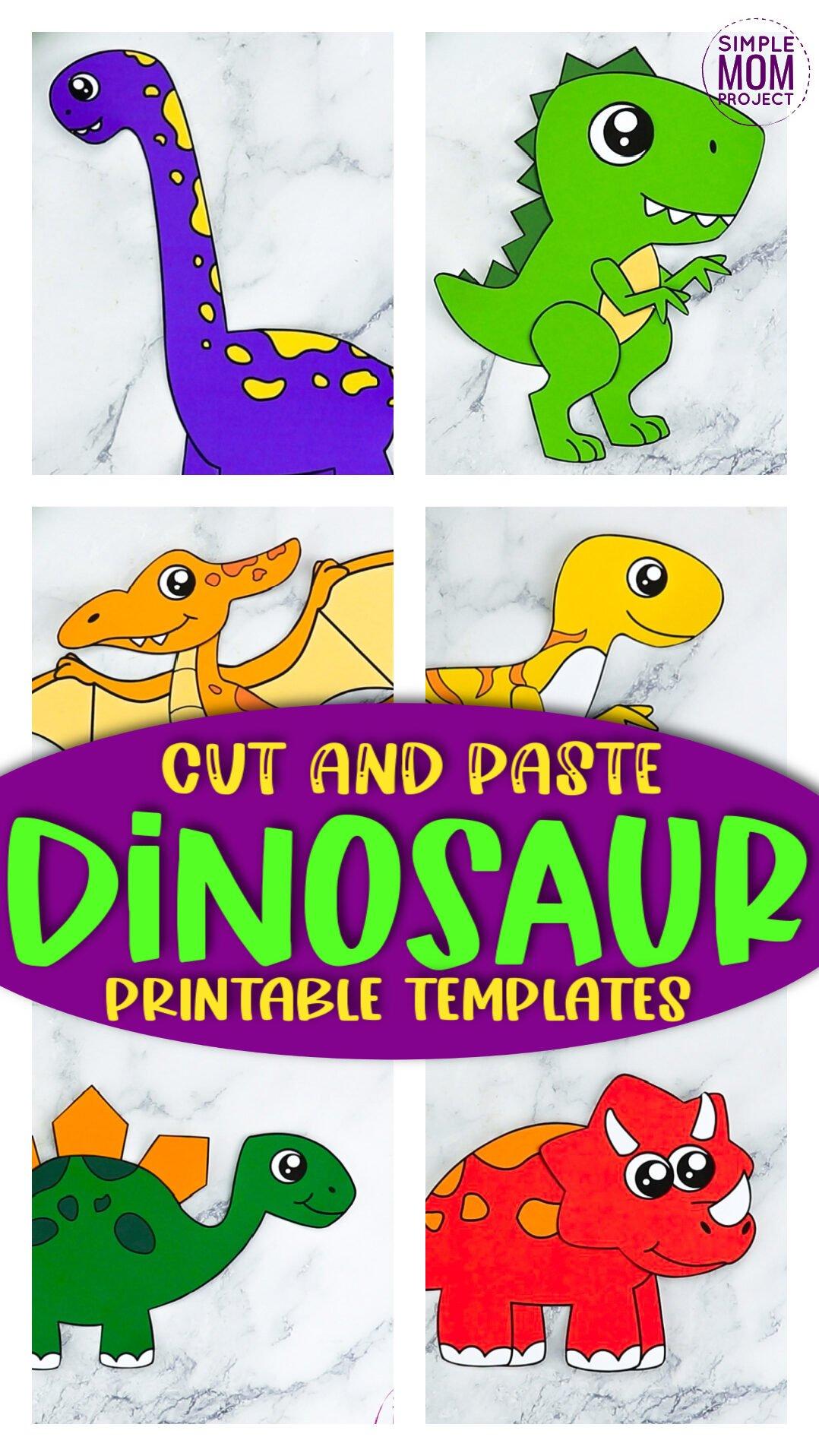 Printable Dinosaur Crafts for Kids, preschoolers, toddlers, kindergartners 1