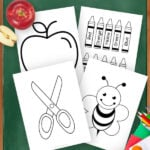 Grab these easy, Printable School Supply and Back to School Themed templates for elementary school teachers, students preschoolers and toddlers. Easily click and download your set today! Great for Teacher Appreciation week!