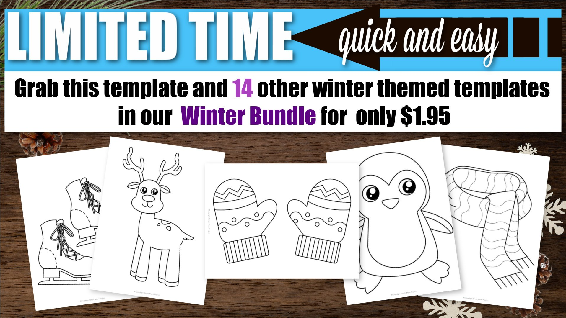 Printable Winter Templates for winter themed crafts for preschoolers toddlers and kindergartners
