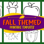 Grab these easy, printable fall Themed templates for autumn decor, fall crafts and elementary school teachers, students preschoolers and toddlers. Turn them into a fun fall banner or autumn activity for your kids. Easily click and download your set of our fall and autumn templates today!