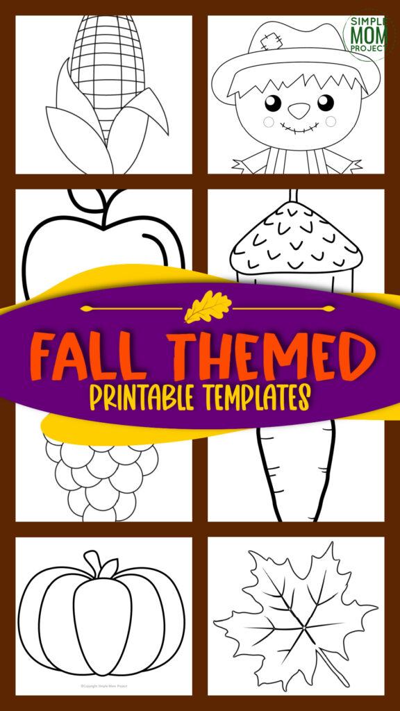 Printable fall templates for autumn projects fall crafts fall decor and fall activities