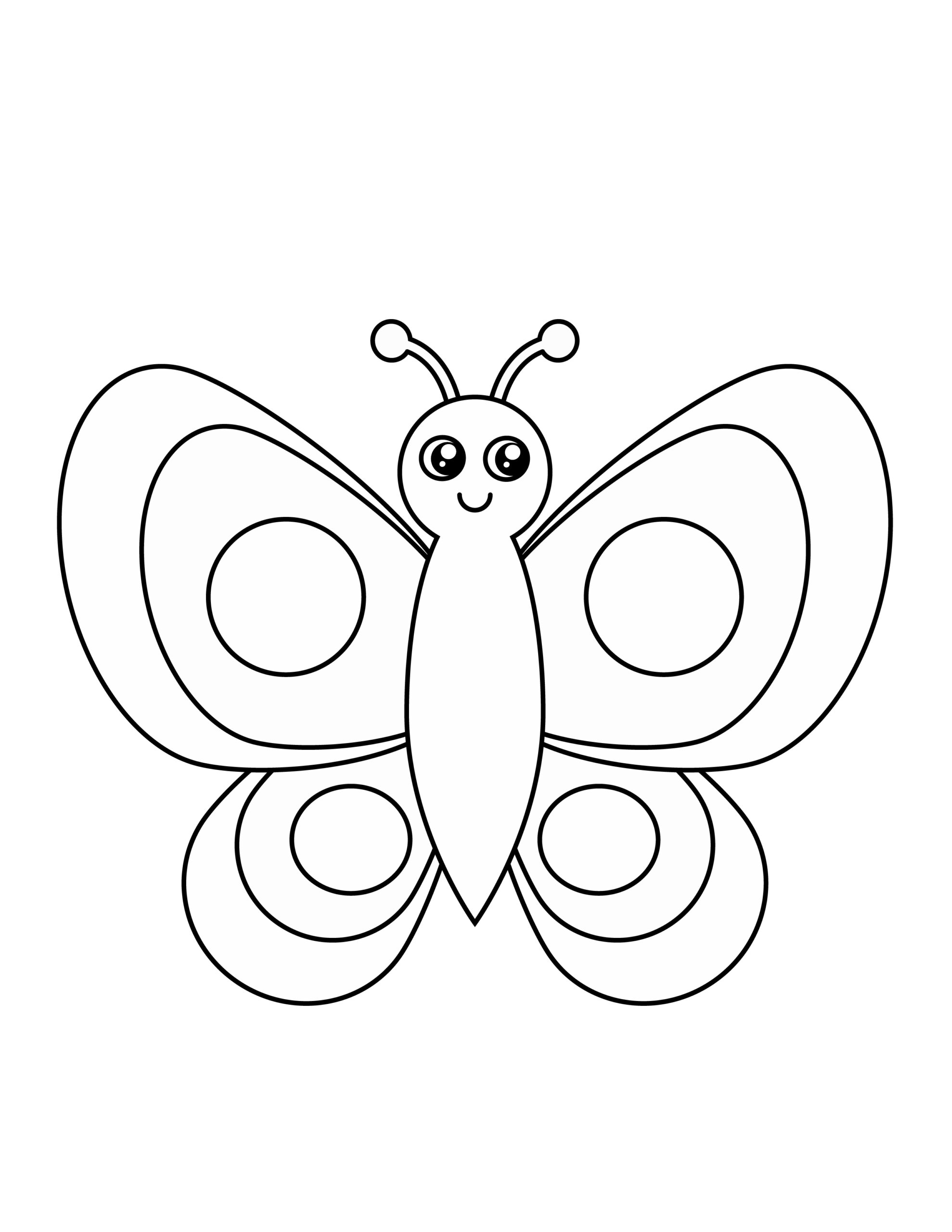 Printable butterfly template for summer template crafts for kids, preschoolers and toddlers
