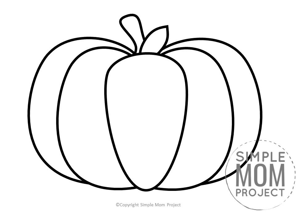Printable Large Pumpkin Template for Fall Crafts, Spring Crafts