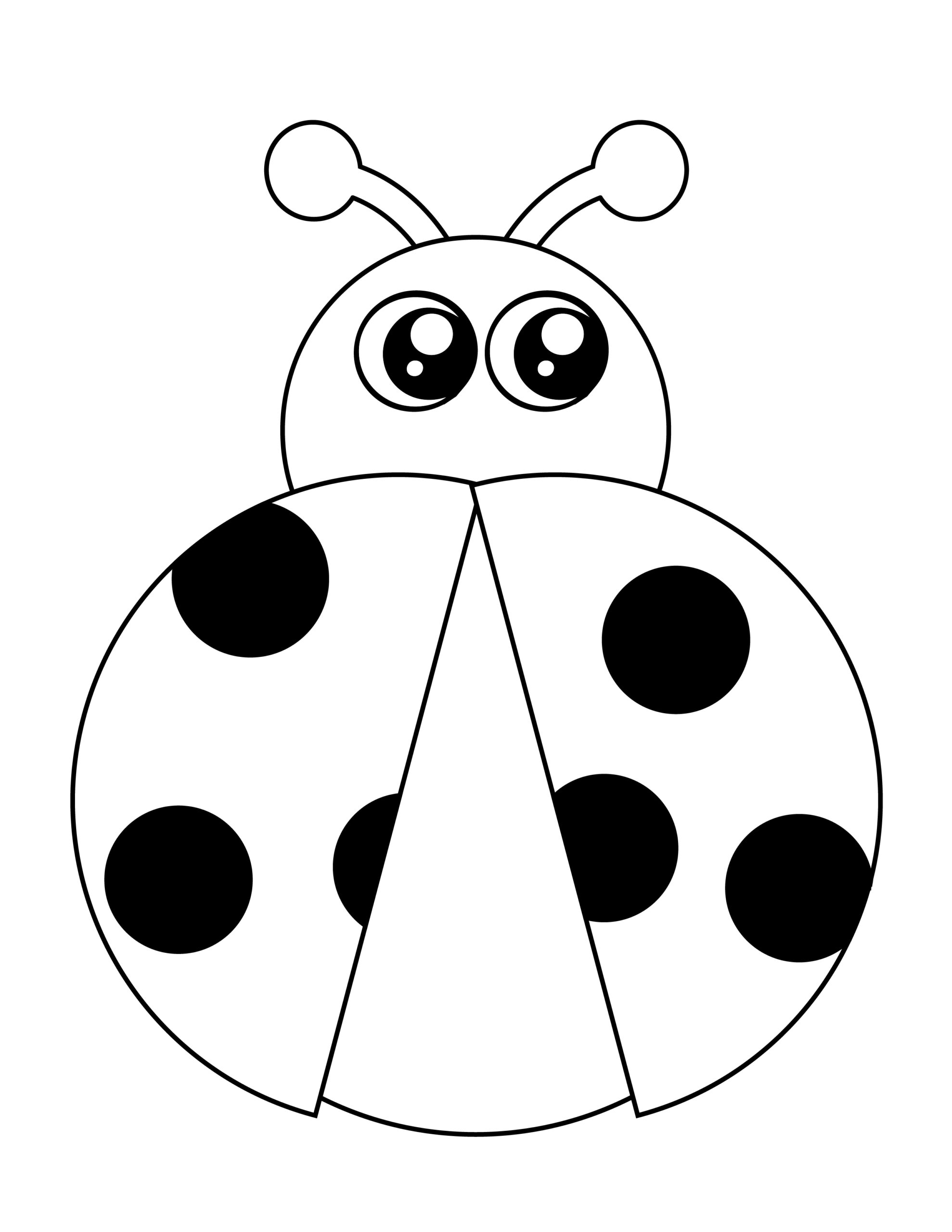 Printable lady bug template for summer template crafts for kids, preschoolers and toddlers