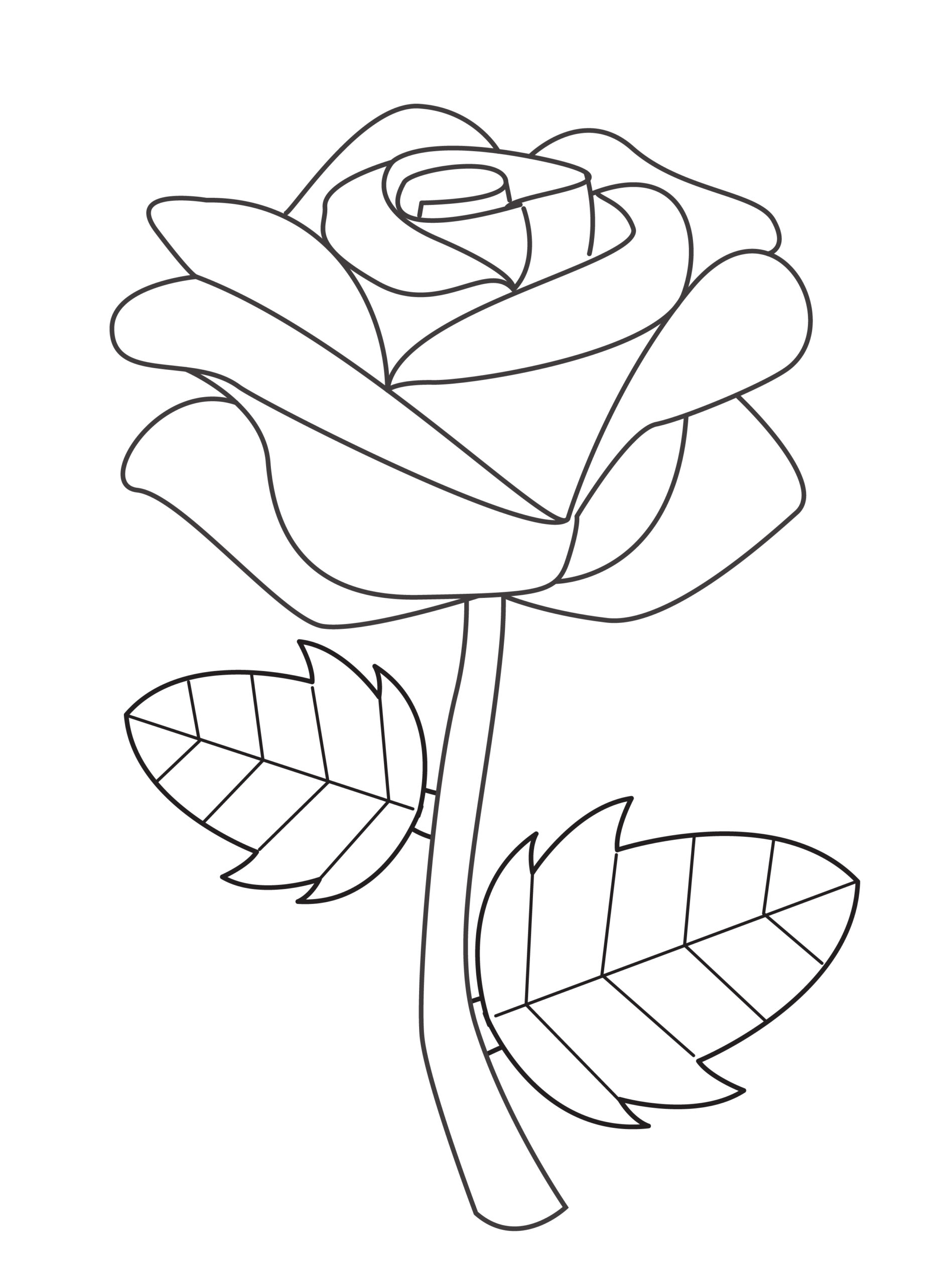 Printable rose template for summer template crafts for kids, preschoolers and toddlers